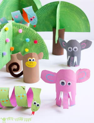 Jungle Book Paper Tube Craft
