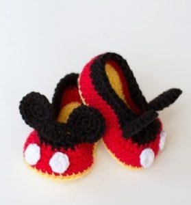 Mickey-Inspired Crochet Baby Booties